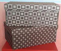 Набор коробок (2 шт.; цвет темно-коричневый)